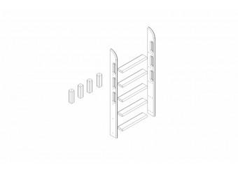 Пакет №10 Прямая лестница и опоры для кровати Соня