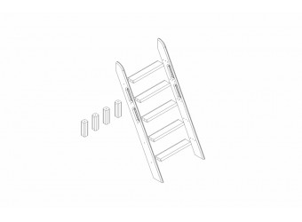 Пакет №11 Наклонная лестница и опоры для кровати Соня