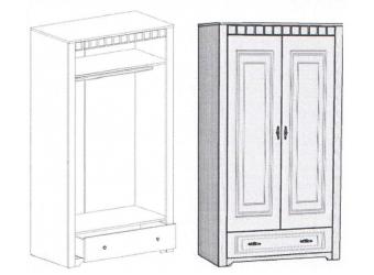 Шкаф для одежды Прованс двухдверный
