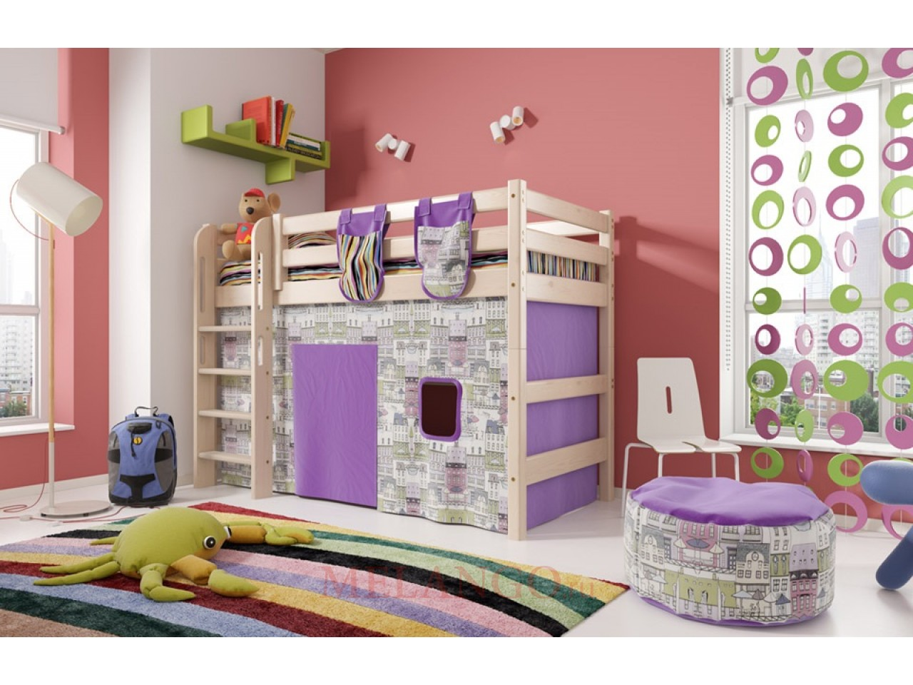 Детская кровать-чердак Соня Вариант-5