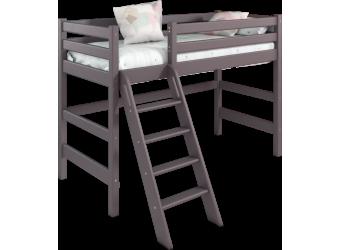 Кровать Соня Лаванда полувысокая вариант 6 с наклонной лестницей