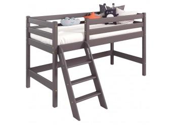 Низкая кровать Соня Лаванда с наклонной лестницей вариант 12