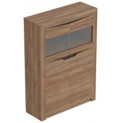 Шкаф-витрина Соренто двухдверный дуб стирлинг