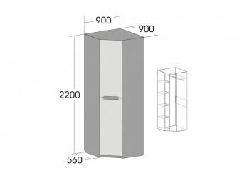 Угловой шкаф для одежды Виго