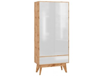 Двухстворчатый шкаф Хелен 2213 (белый лак)