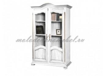 Шкаф для книг 1240 Давиль ММ-126-16 (белая эмаль)