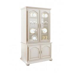 Шкаф с витриной 1220 Давиль ММ-126-11 (белая эмаль)