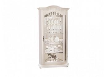 Шкаф с витриной  Давиль ММ-126-50П (белая эмаль)