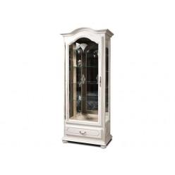 Шкаф с витриной  Давиль ММ-126-54П (белая эмаль)