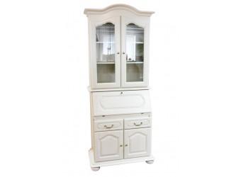 Шкаф с витриной  Давиль ММ-126-65 (белая эмаль)