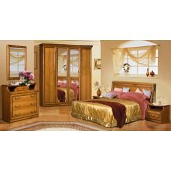 Двуспальная кровать Нинель ММ-167-02 (табак)