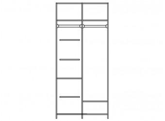 Шкаф для одежды Нинель ММ-167-01/03 (табак+тп)