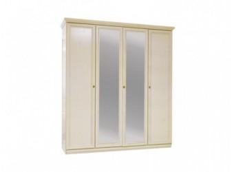 Шкаф для одежды Нинель ММ-167-01/04 (белая эмаль)
