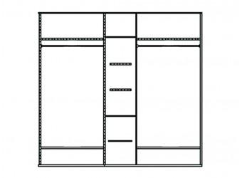 Шкаф для одежды Нинель ММ-167-01/05 (табак+тп)