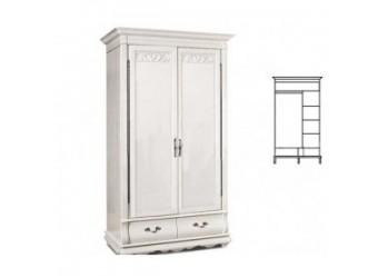 Шкаф для одежды Оскар ММ-216-01/02Б (белая эмаль+пт)