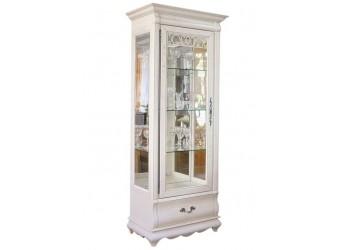 Шкаф с витриной Оскар ММ-210-01 (белая эмаль+пт)