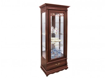 Шкаф с витриной Оскар ММ-210-01 (орех)