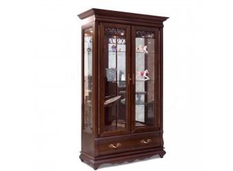 Шкаф с витриной Оскар ММ-210-02 (орех)