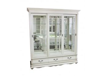Шкаф с витриной Оскар ММ-210-03 (белая эмаль+пт)