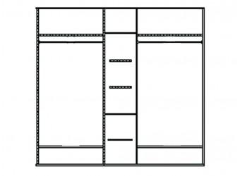 Шкаф для одежды Лика ММ-137-01/05Б (белая эмаль)