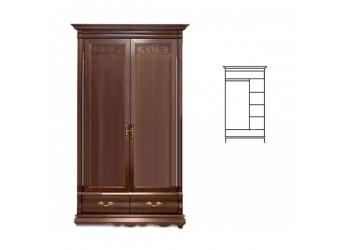 Шкаф для одежды Оскар ММ-216-01/02Б (орех)