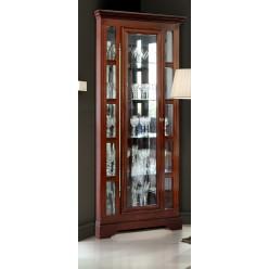 Шкаф с витриной Полонез угловой ММ-174-01У/01 (черешня)