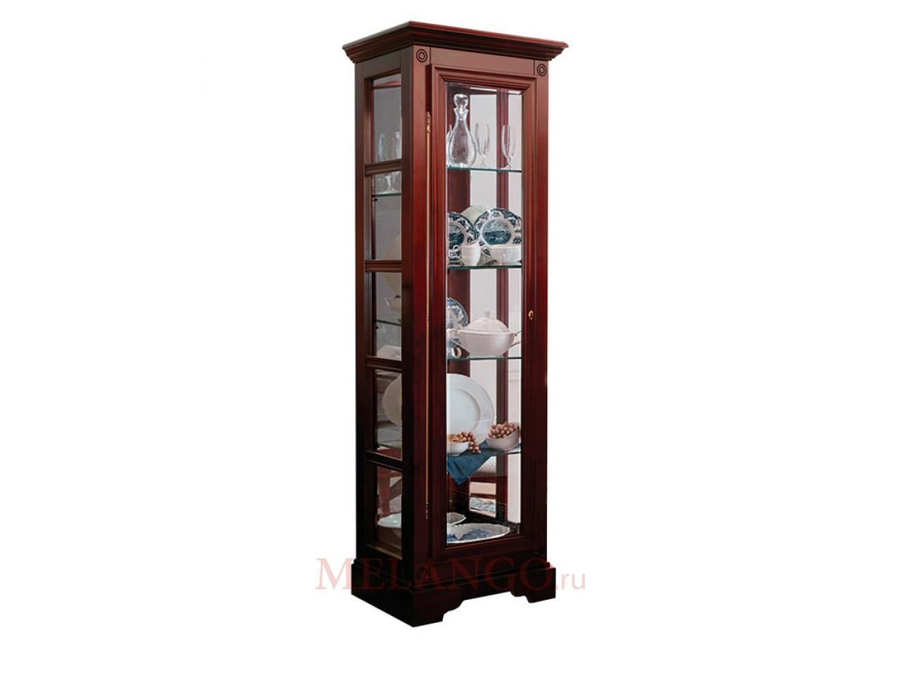 Шкаф с витриной Полонез ММ-174-05 (черешня)