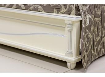 Двуспальная кровать «Валенсия 2М» П254.51 (античная темпера с серебром)