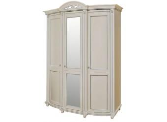 Шкаф для одежды «Валенсия 3» П254.10 (античная темпера с серебром)