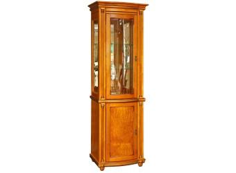 Шкаф-витрина для гостиной «Валенсия 1.1з» П244.14.1 (янтарь)