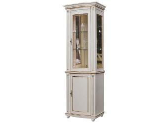 Шкаф-витрина для гостиной «Валенсия 1з» П244.14 (античная темпера с золотом)