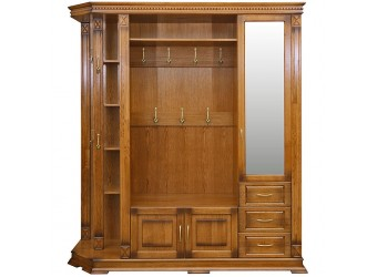 Шкаф комбинированный для прихожей «Верди Люкс 2.1» П433.02-01 (дуб рустикаль с патинированием)