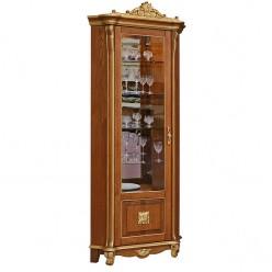 Шкаф с витриной «Алези 10 Люкс» П350.13-01л (античная бронза)