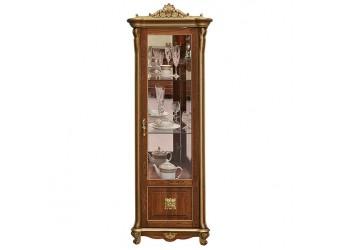 Шкаф с витриной «Алези 8 Люкс» П350.08л (античная бронза)