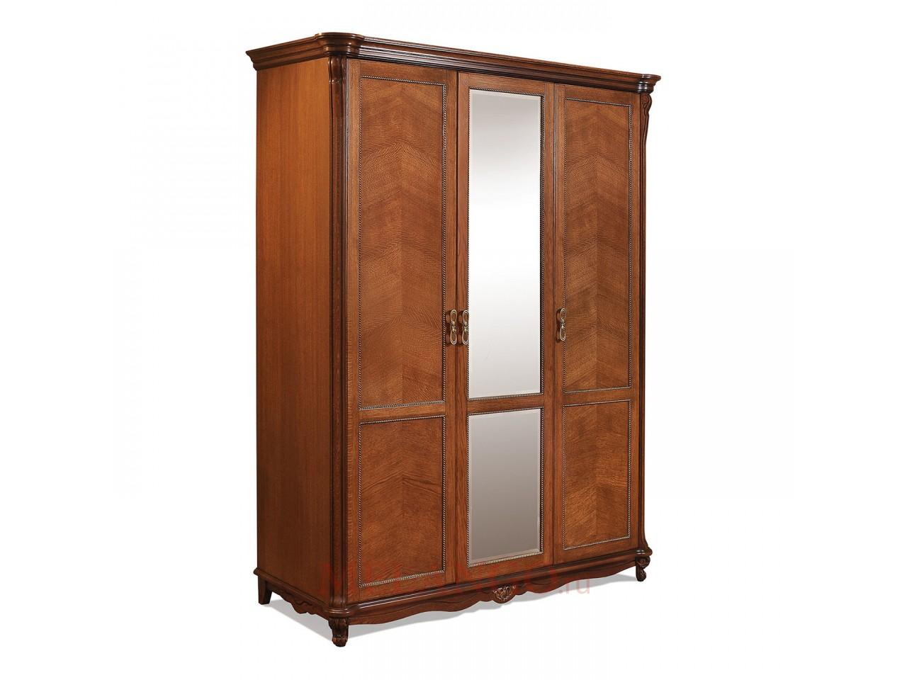 Шкаф 3-х дверный «Алези» П349.01 (античная бронза)