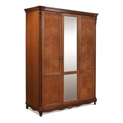 Шкаф 3-х дверный Алези  античная бронза П349.01