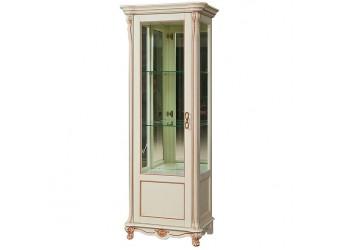 Шкаф-витрина «Алези 8» П 350.08-01 (слоновая кость с золочением)