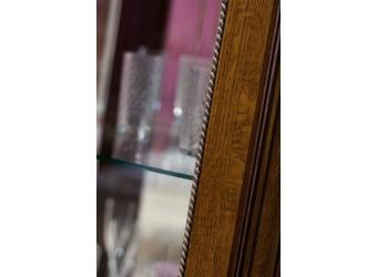 Шкаф-витрина «Алези 8» П 350.08-01 (античная бронза)