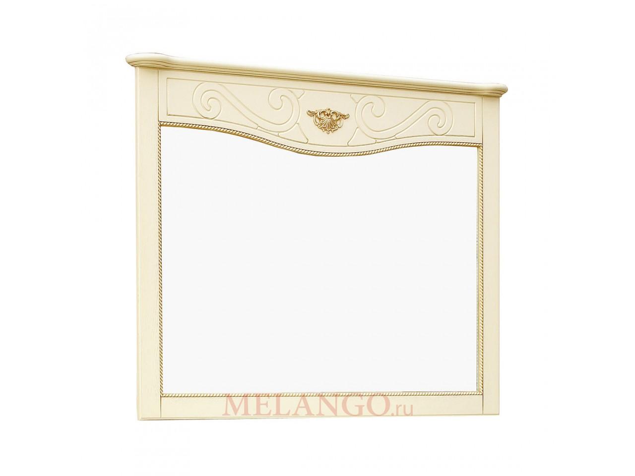 Зеркало «Алези 2» П 350.14 (слоновая кость с золочением)