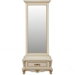 Зеркало напольное «Алези 1» П 350.15 слоновая кость с золочением