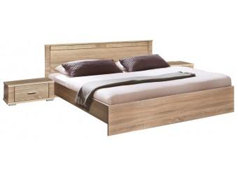 Кровать двуспальная «Гресс» (дуб сонома светлый)