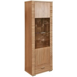 Шкаф-витрина «Гресс» П501.04 (дуб сонома светлый)
