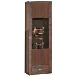 Шкаф-витрина «Гресс» П501.04 (дуб сонома темный)