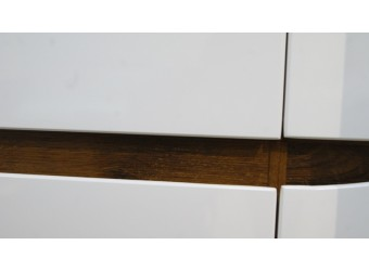 Шкаф-пенал Монако П 510.12 (дуб саттер/белый глянец)