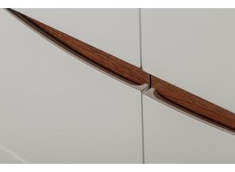 Двухстворчатый шкаф Монако П 510.13 (дуб саттер/белый глянец)