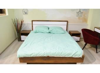 Спальня «Монако» #1 (дуб саттер/белый глянец)