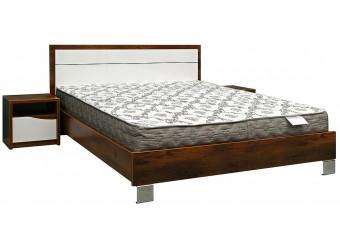 Кровать двойная «Монако» П528.14 (дуб саттер/белый глянец)