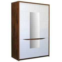 Шкаф для одежды «Монако» П528.07 (дуб саттер/белый глянец)