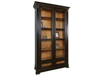 Шкаф книжный «Пьемонт» П518.25 (темный шоколад)