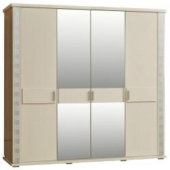Шкаф для одежды «Тунис» П344.09 слоновая кость с серебром